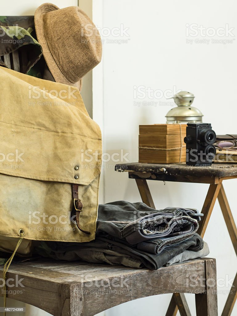 Vintage male clothing ( Space for text ) stock photo