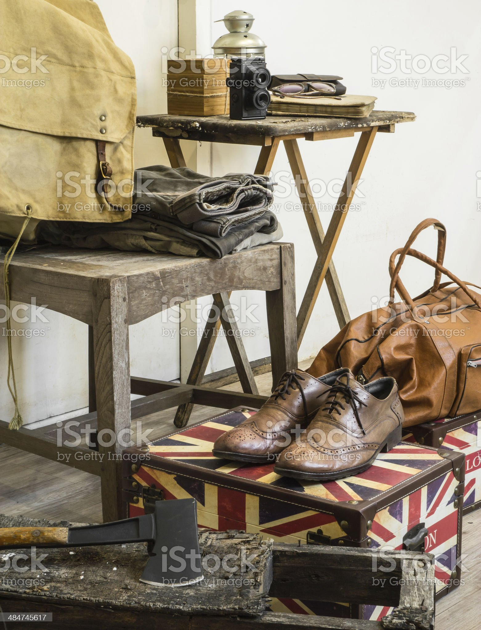 Vintage male clothing royalty-free stock photo