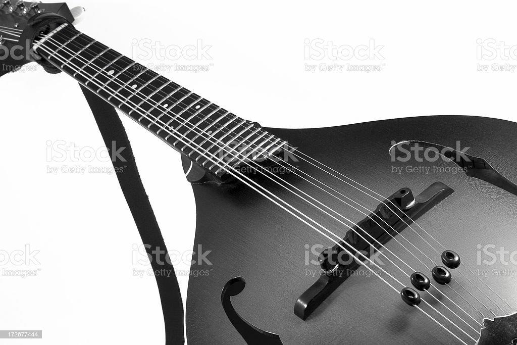 Vintage Mandolin - bw royalty-free stock photo