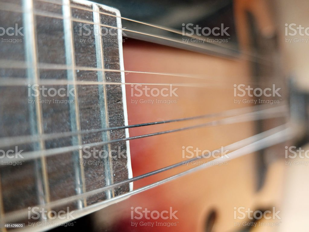 Vintage: Mandolin close-up stock photo