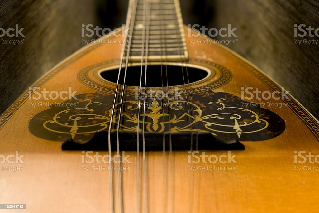 Vintage Mandolin stock photo