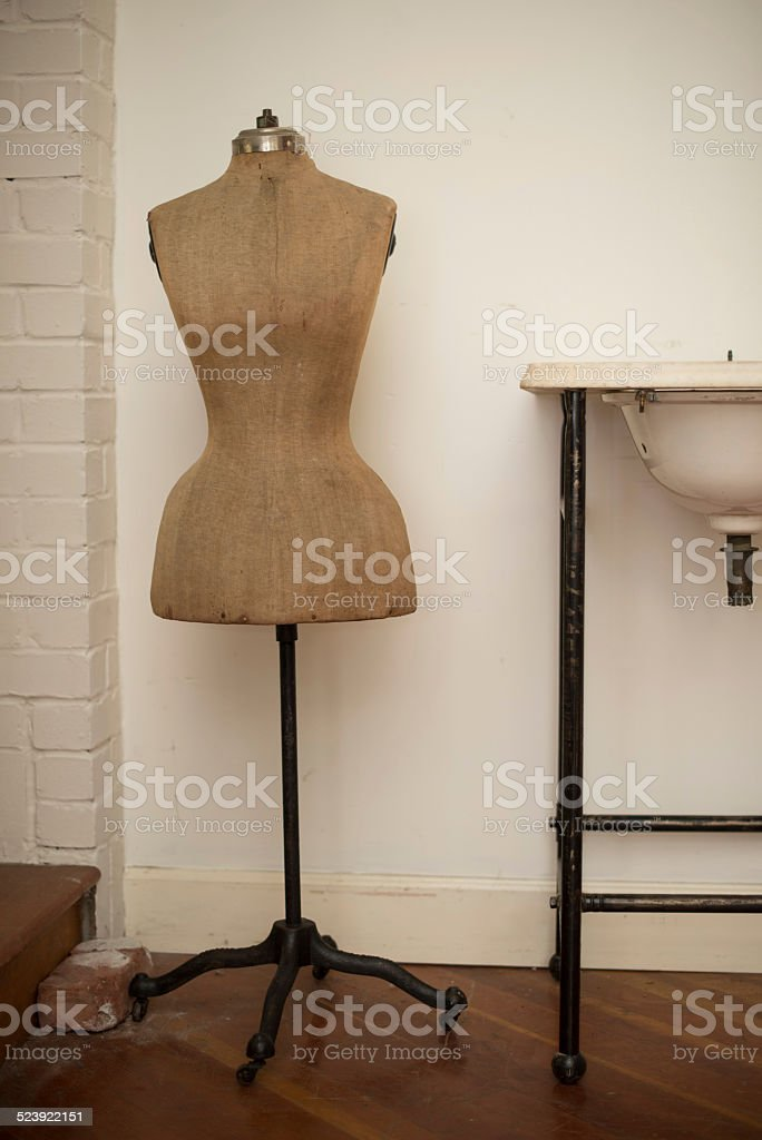 Vintage Mannequin stock photo