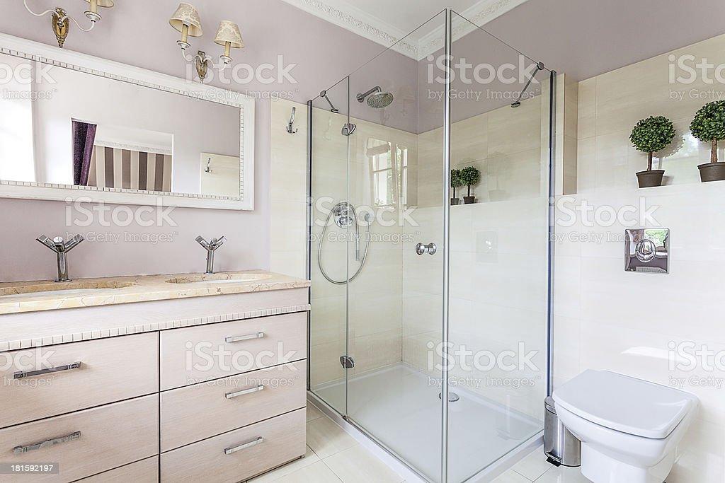 Vintage mansion - bathroom royalty-free stock photo