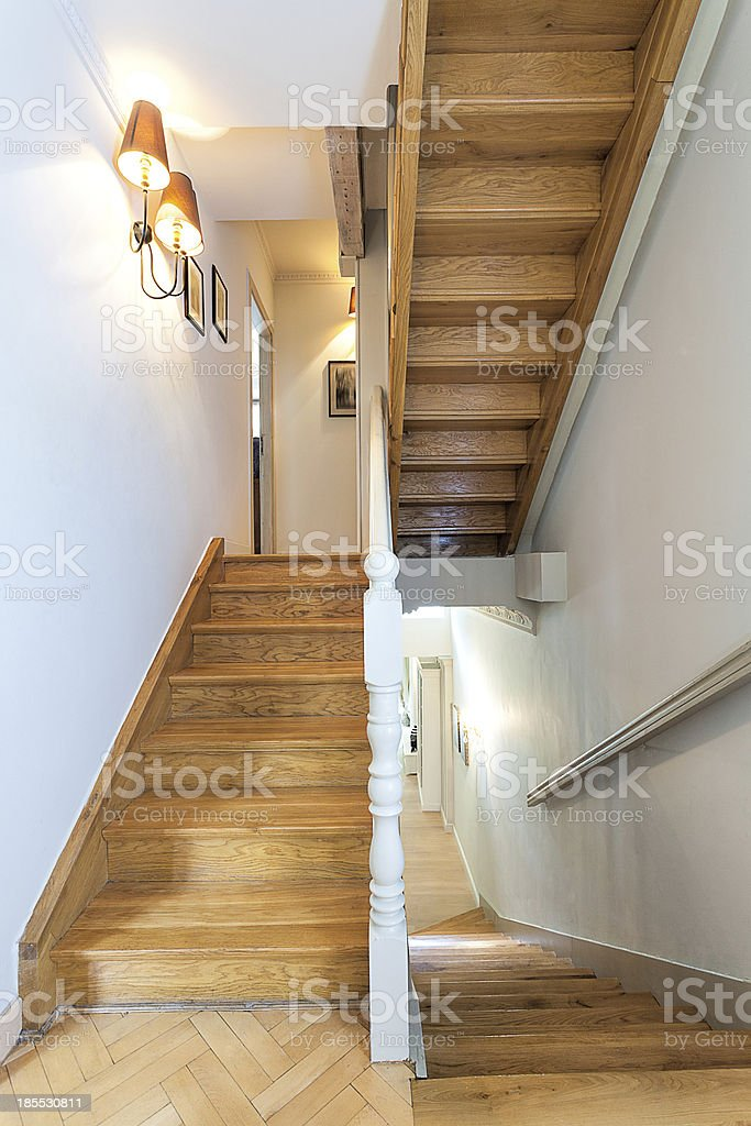 Vintage mansion - staircase royalty-free stock photo