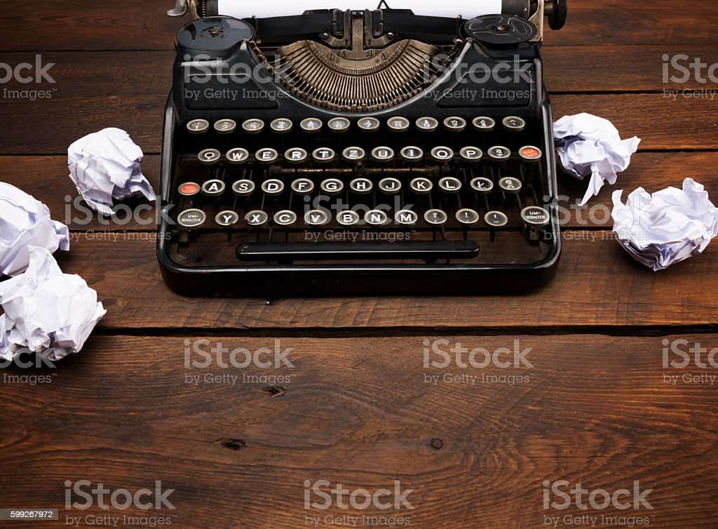 Vintage Manual Typewriter stock photo