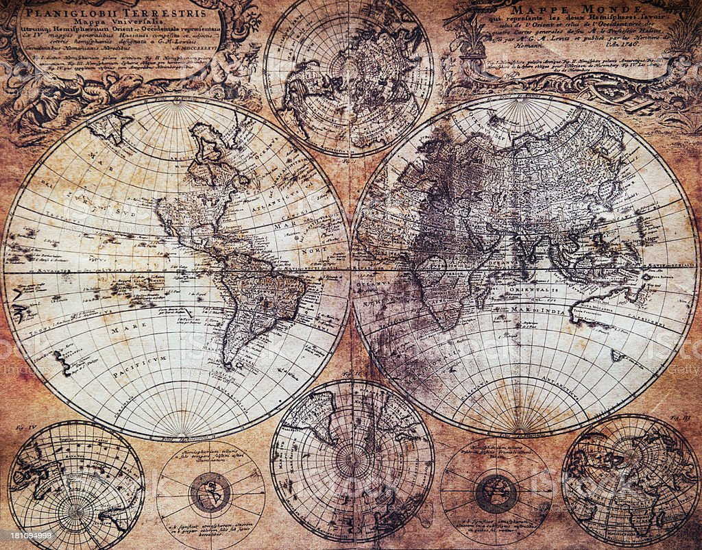 vintage map royalty-free stock photo