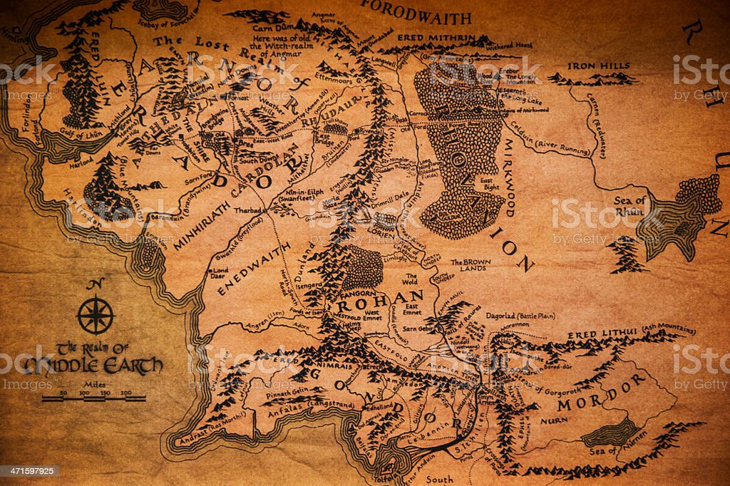 vintage map stock photo