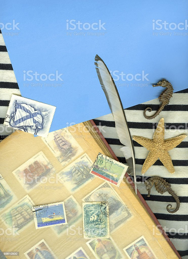 Vintage marine background royalty-free stock photo