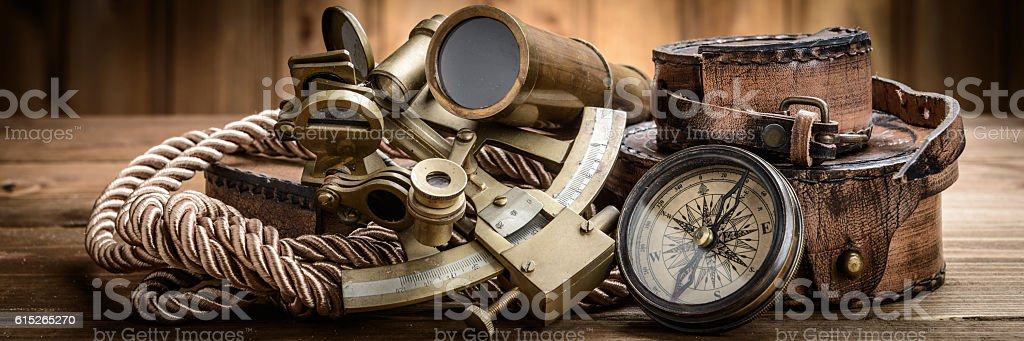 vintage marine still life stock photo