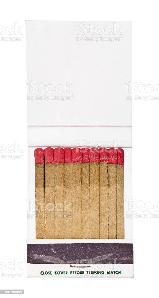 Vintage Matchbook With Blank White Cover stock photo