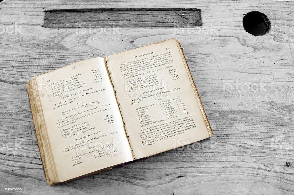 Vintage Math Text Book royalty-free stock photo