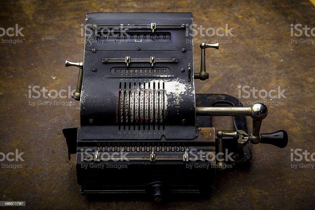 Vintage Mechanical Comptometer royalty-free stock photo