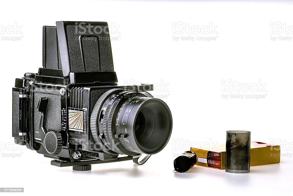 Vintage Medium 120 Format Camera... stock photo