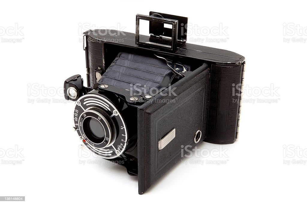 Vintage medium format camera royalty-free stock photo