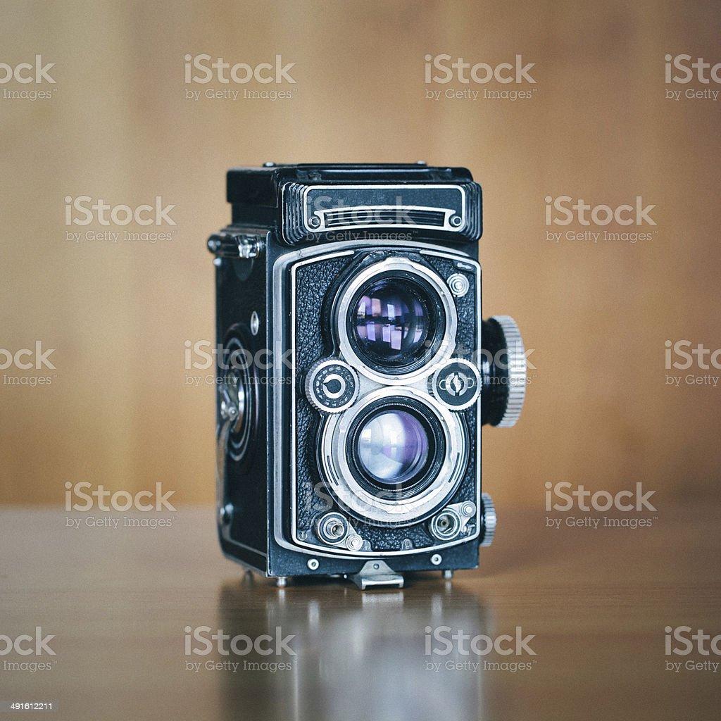 Vintage Medium Format Camera stock photo