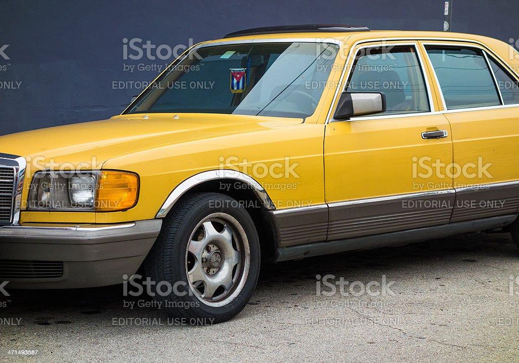 Vintage Mercedes 500 series stock photo
