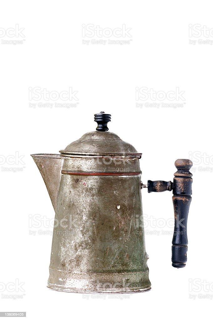 Vintage Metal Coffee Pot stock photo