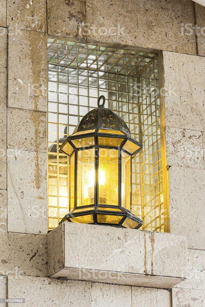 vintage metal lantern royalty-free stock photo
