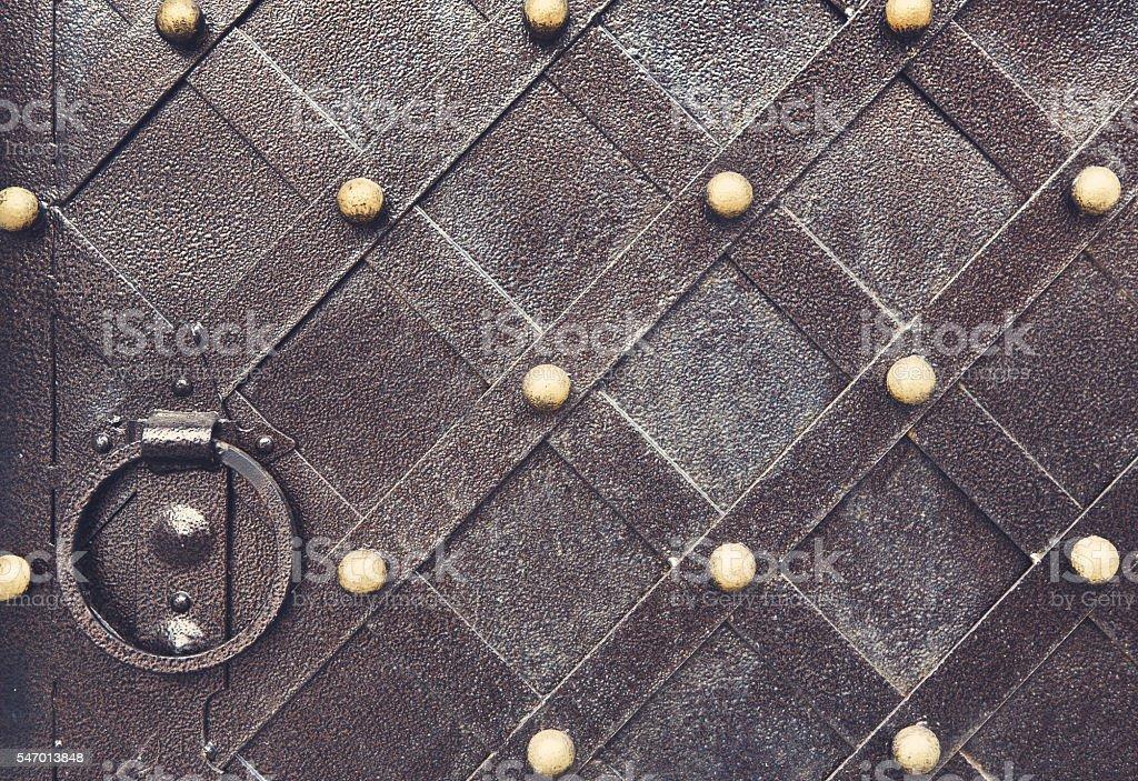 Vintage metallic pattern. Decorative checkered elements stock photo