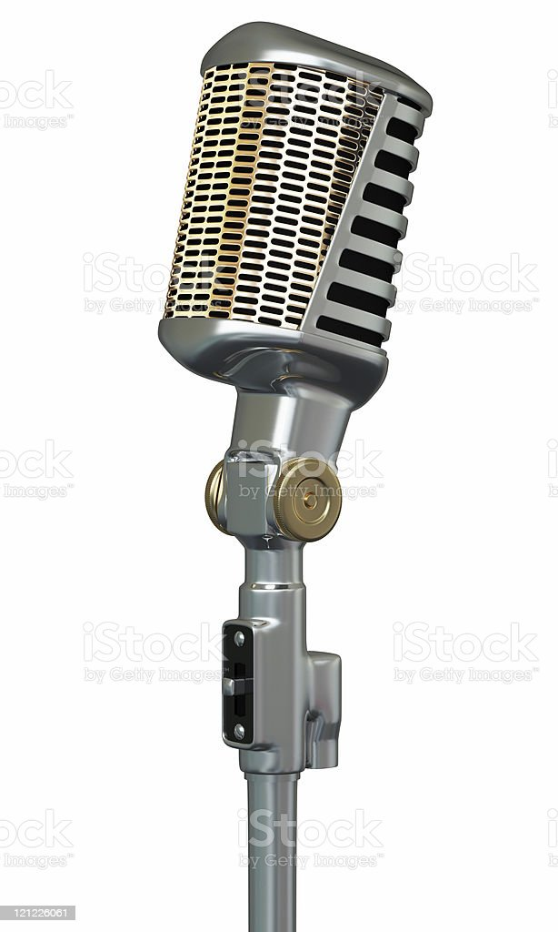 Vintage microphone. royalty-free stock photo