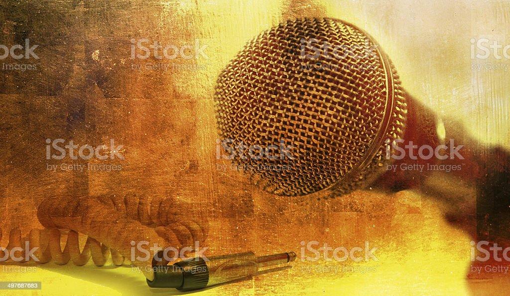 Ретро Микрофон Стоковые фото Стоковая фотография