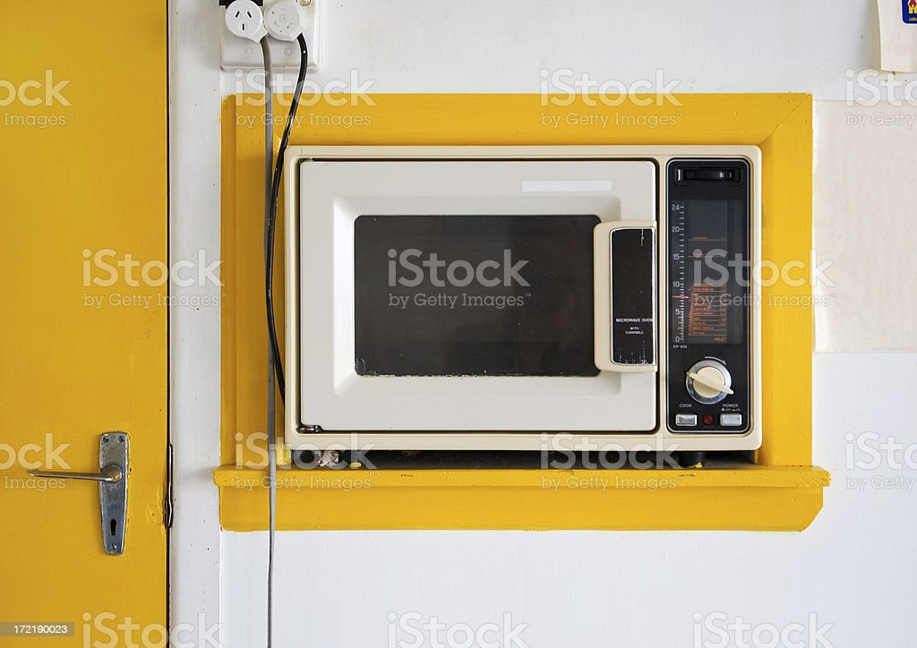 Vintage Microwave Oven stock photo