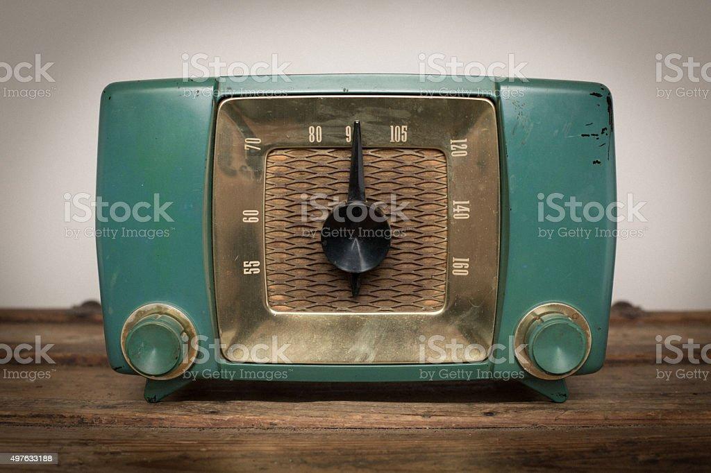 Vintage Mid Century Modern Radio, Retro Communication Electronics stock photo