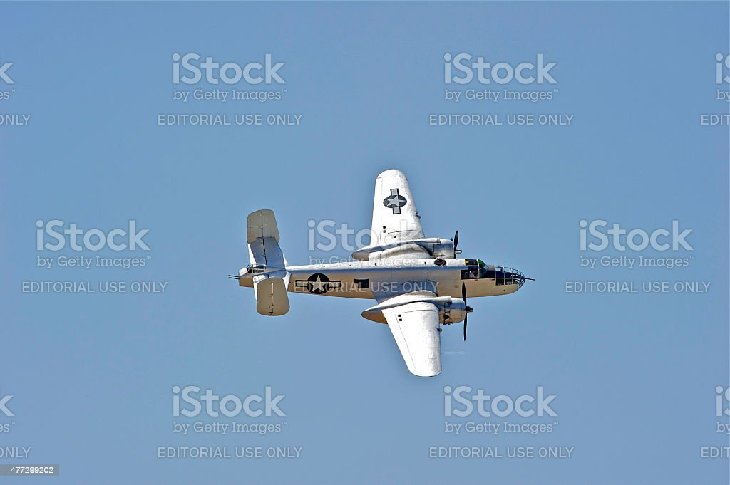 Vintage Military Aircraft stock photo