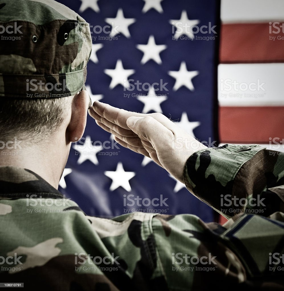 Vintage Military Salute stock photo