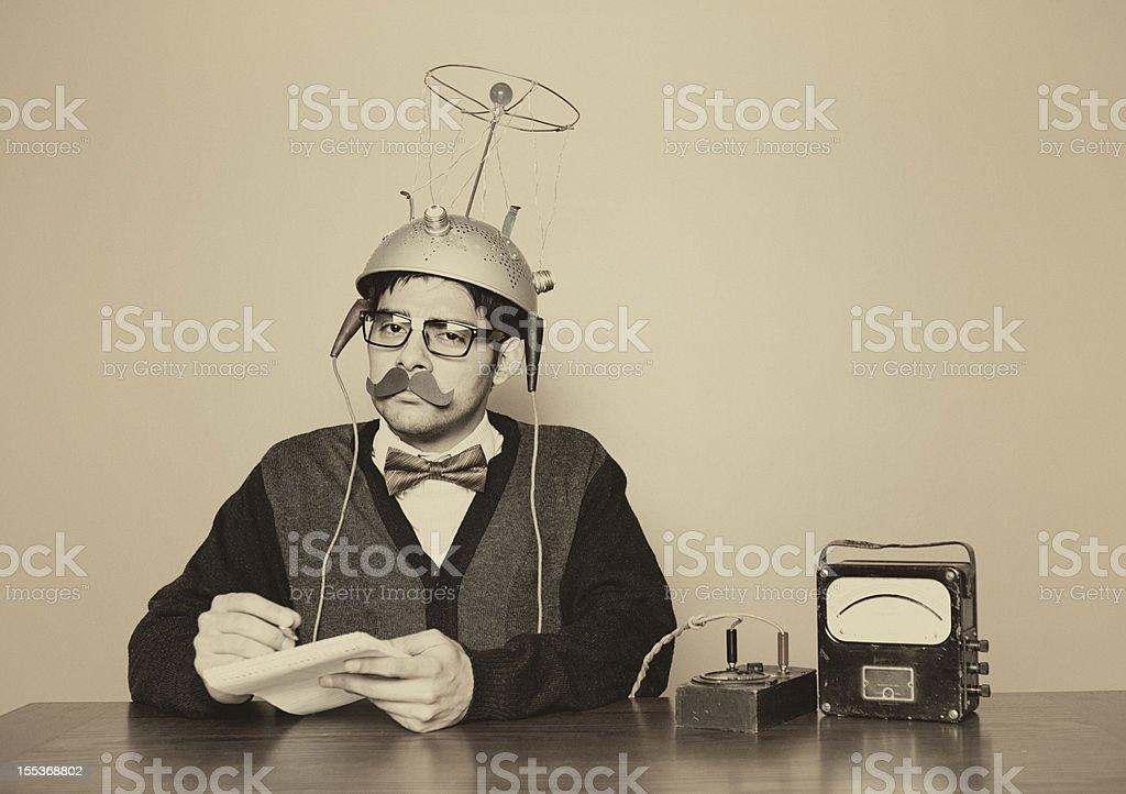Vintage Mind Reader stock photo