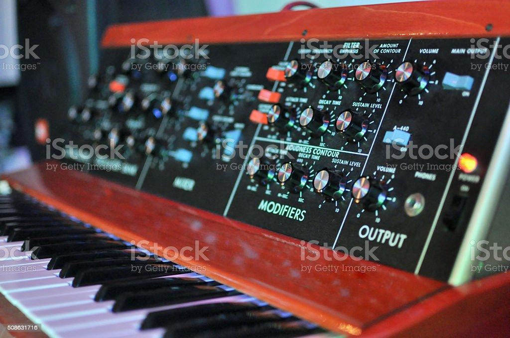Vintage Minimoog Synthesizer stock photo