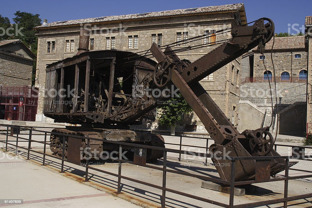 vintage mining wreck stock photo