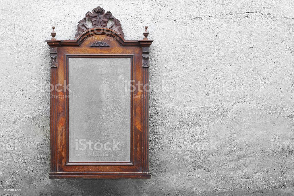 Vintage mirror on the wall. stock photo
