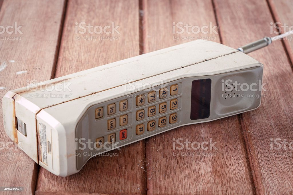 vintage mobile phone stock photo