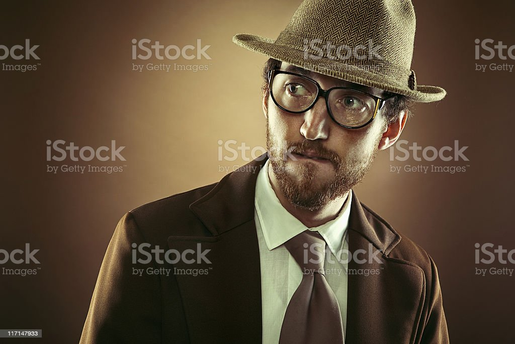 Vintage Mobster Business Man royalty-free stock photo