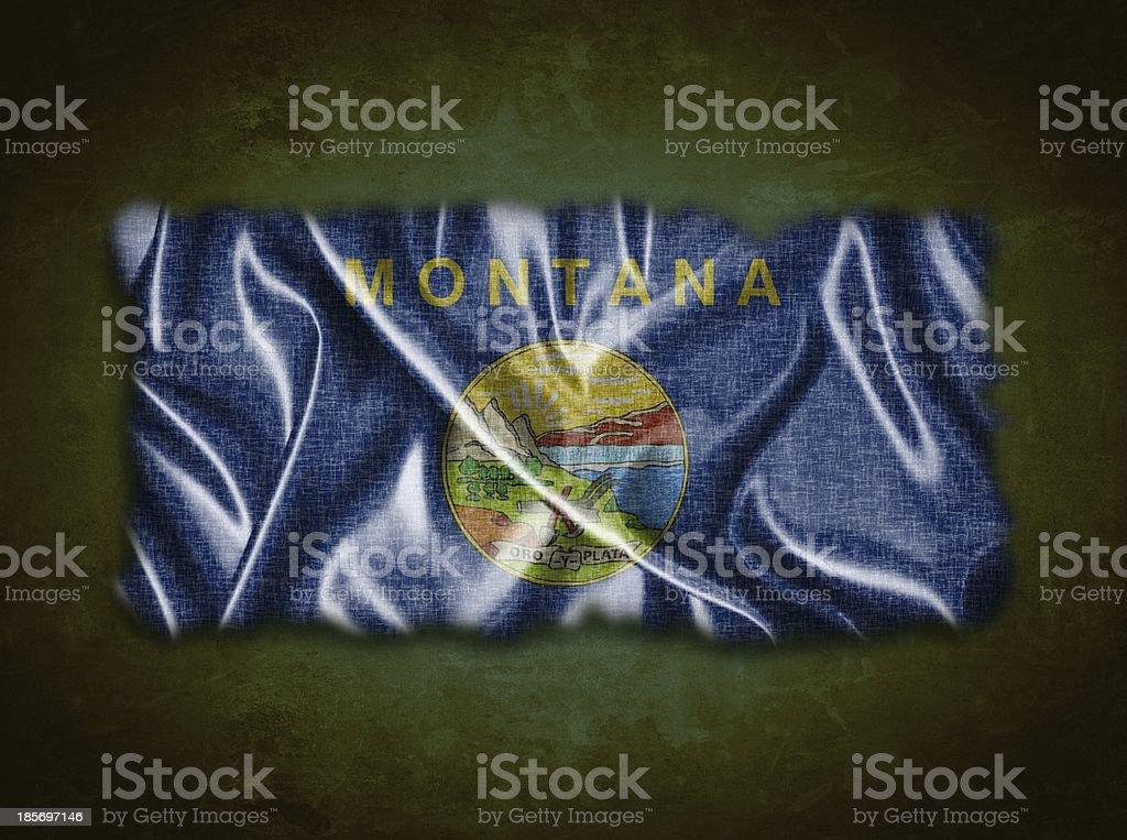 Vintage Montana flag. stock photo