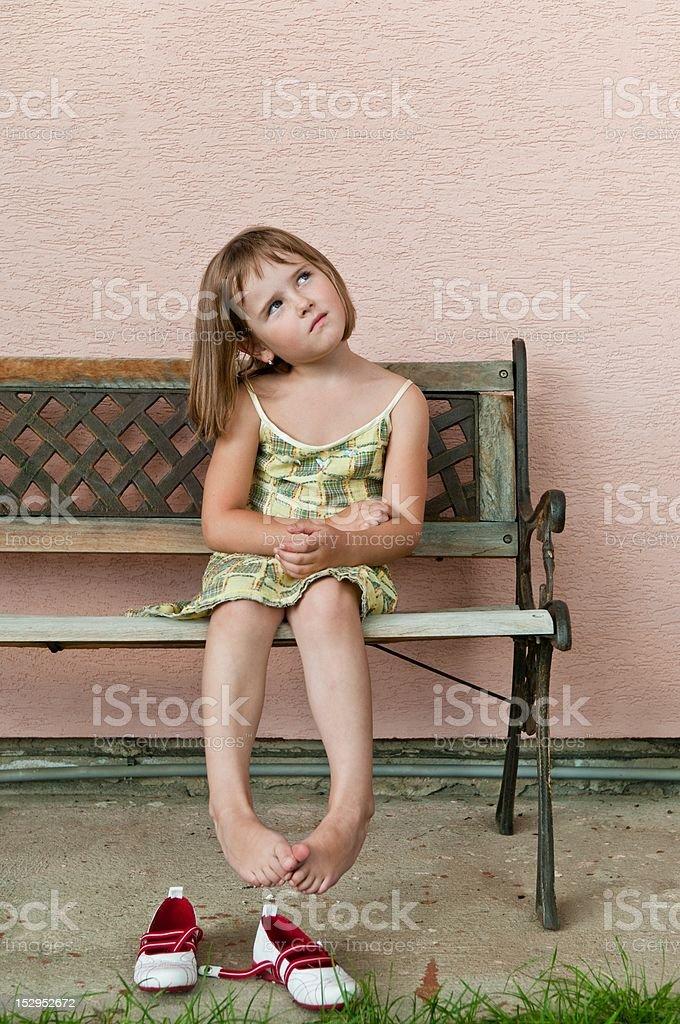Vintage mood - child portrait royalty-free stock photo
