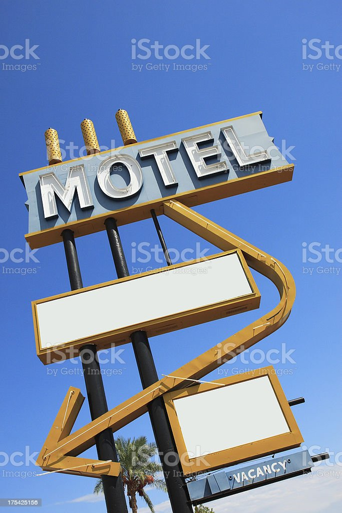 Vintage Motel Sign Angle 2 stock photo