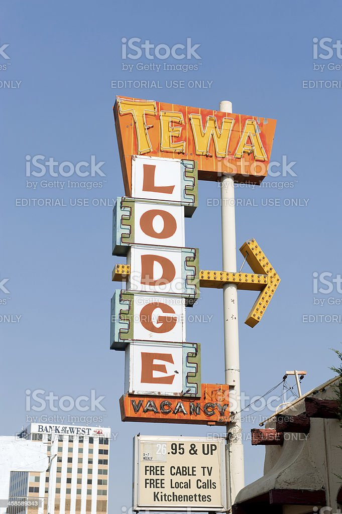 Vintage Motel Sign on Old Route 66 royalty-free stock photo