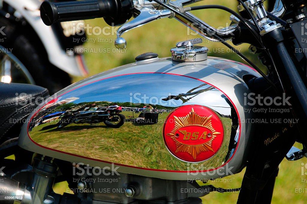 BSA vintage motorbike, Jersey. royalty-free stock photo