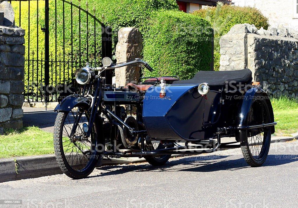 Vintage Motorbike & Sidecar royalty-free stock photo