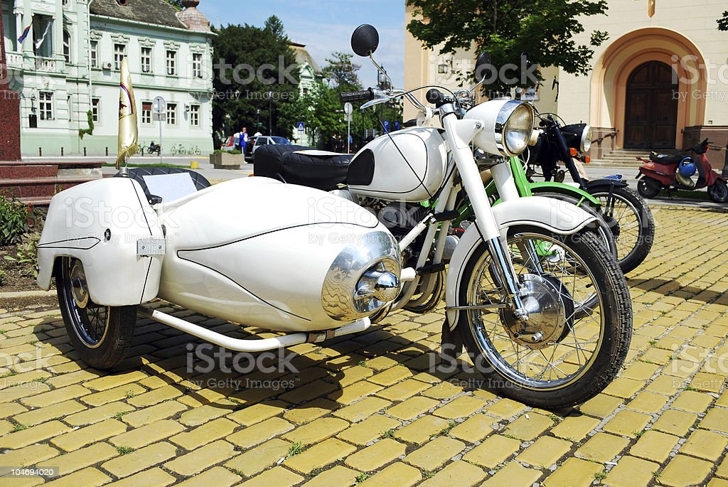 vintage motorcycle stock photo