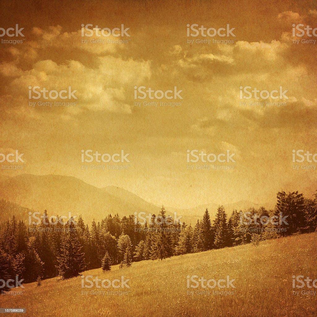 vintage mountain landscape royalty-free stock photo