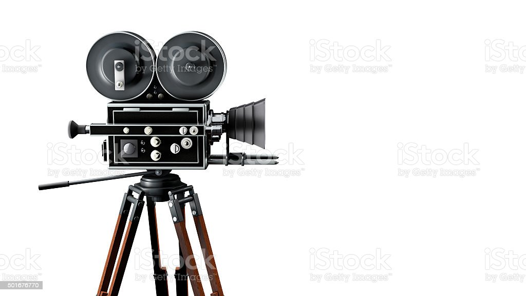 Vintage movie camera 5 stock photo