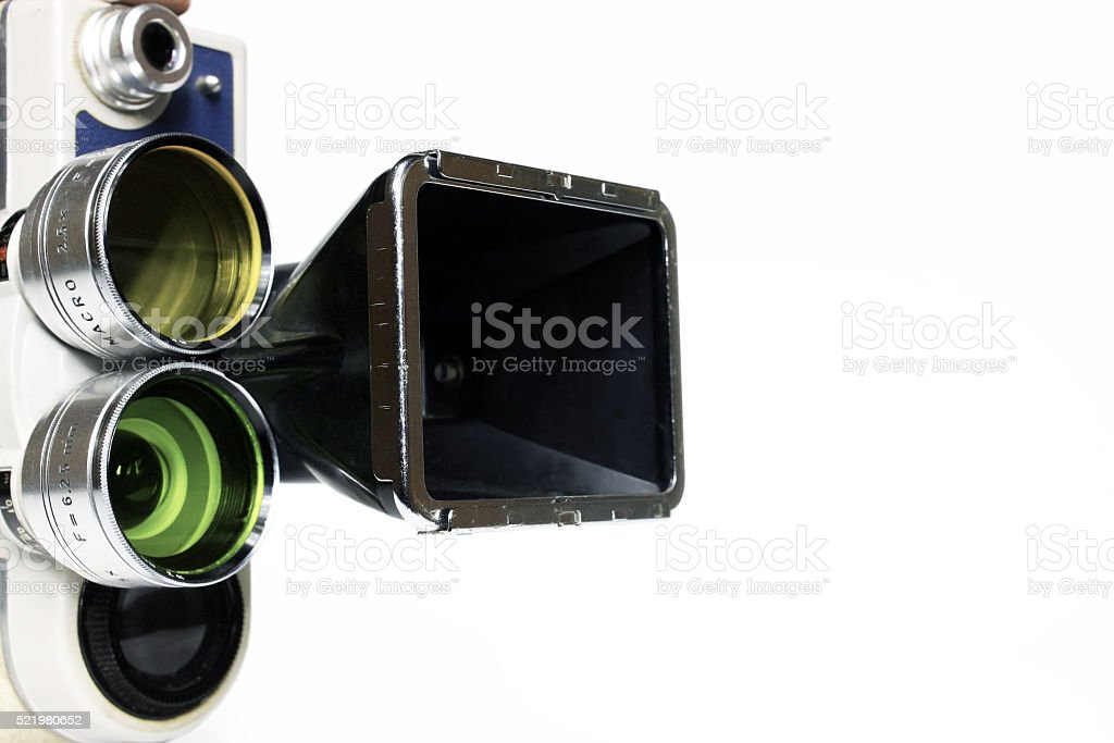Vintage movie camera with adapter stock photo