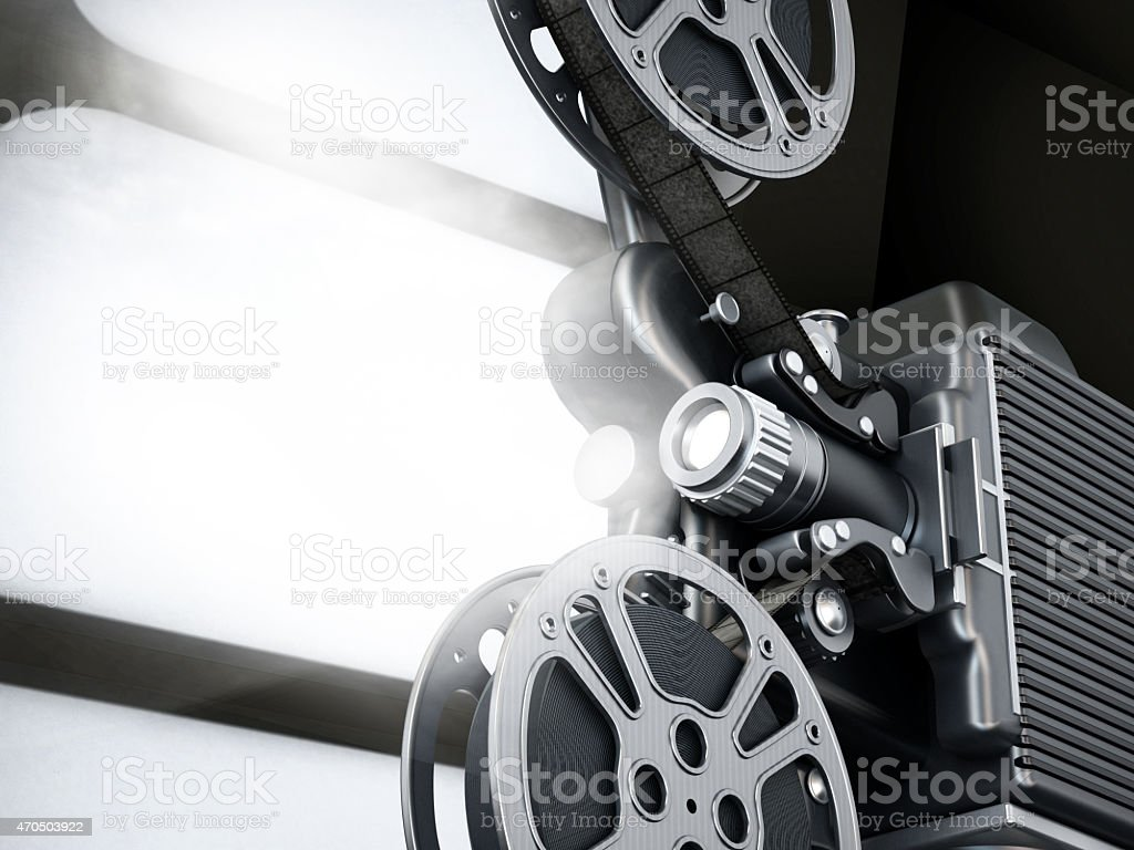 Vintage movie projector stock photo