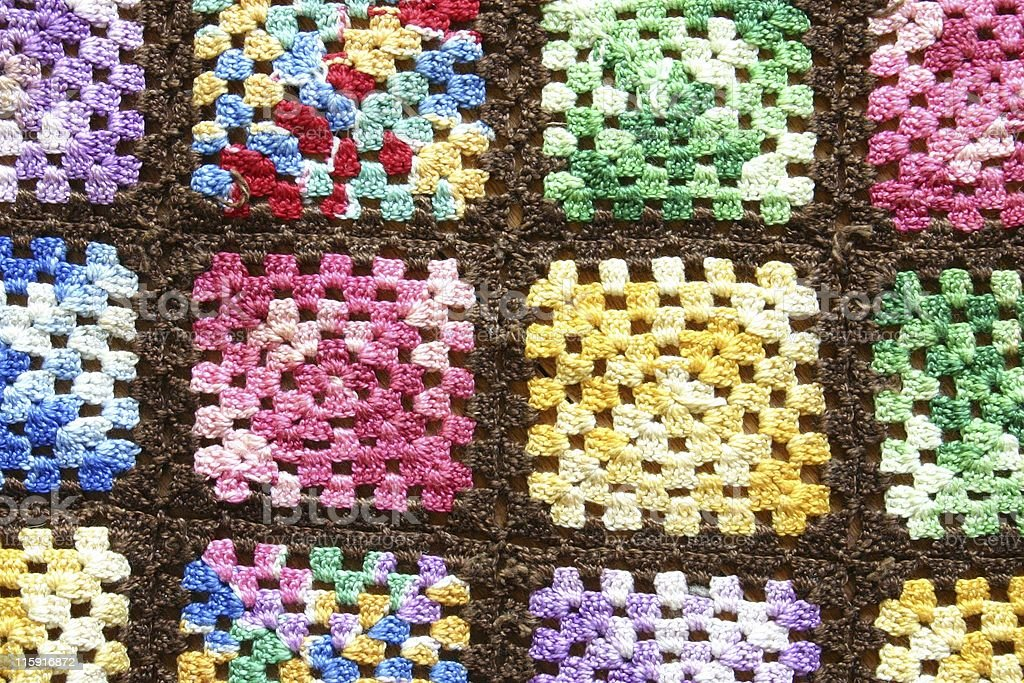 Vintage Multi Colored Crochet royalty-free stock photo