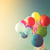 Vintage multicolored balloons