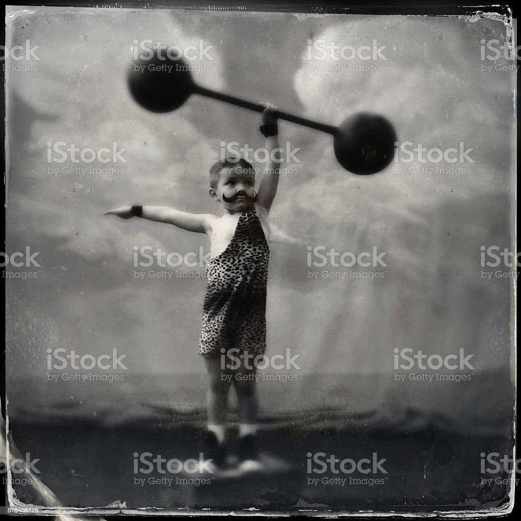 Vintage Muscle Man stock photo