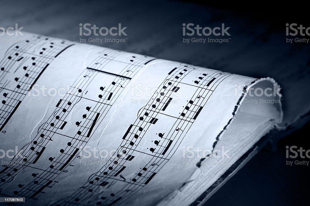 Vintage music book royalty-free stock photo